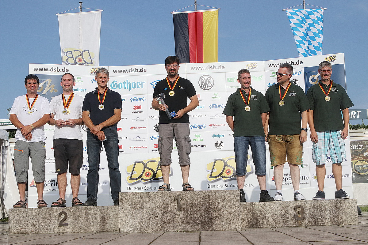 Siegerehrung der Mannschaft (Männer) in München bei der Deutschen Meisterschaft