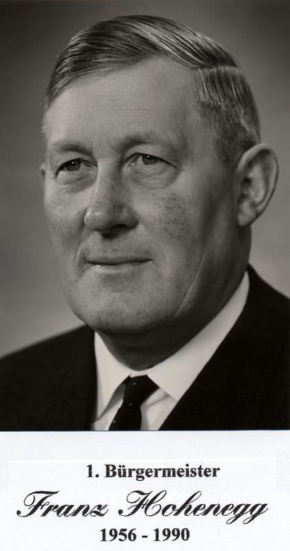 Bürgermeister Hohenegg (1956 - 1990)
