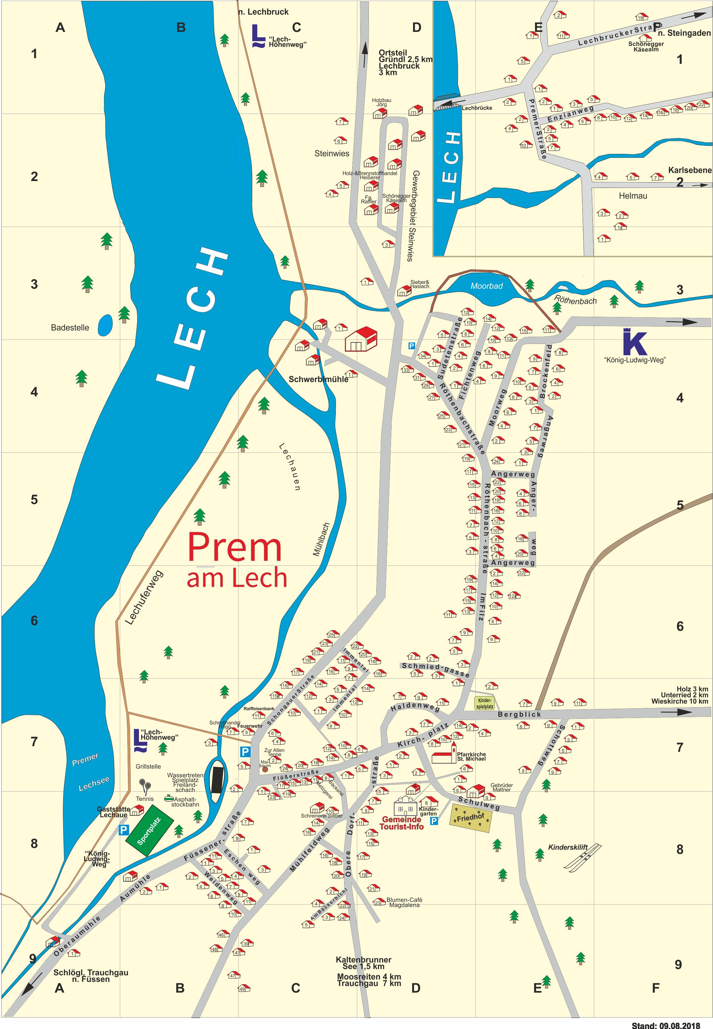 Ortsplan Gemeinde Prem