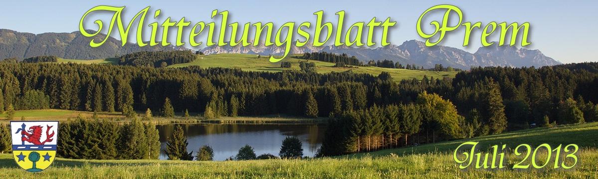 Prem am Lech - Mitteilungsblatt Juli 2013