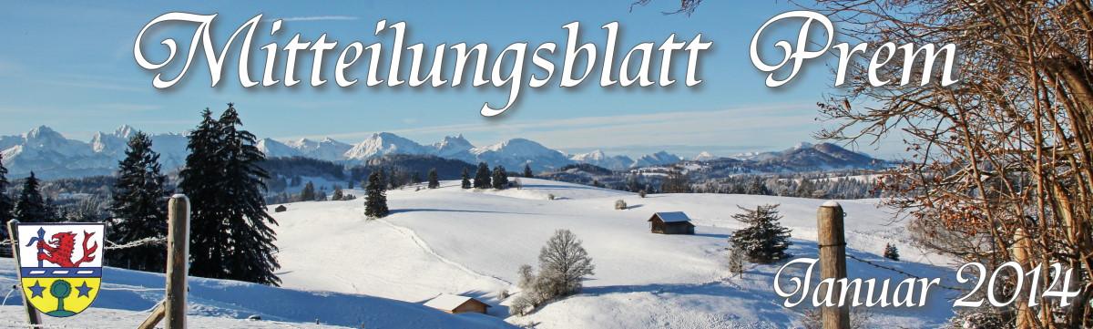 Prem am Lech - Mitteilungsblatt Januar 2014