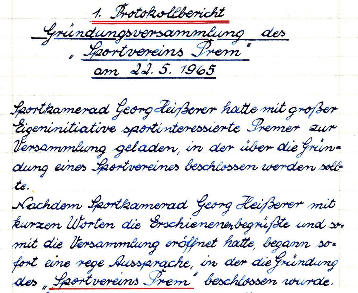 Gründungsversammlung 1965
