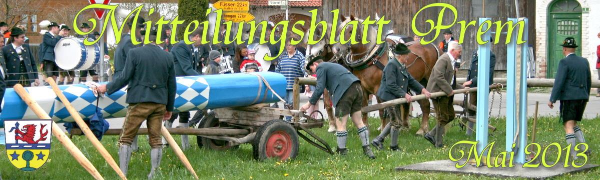 Prem am Lech - Mitteilungsblatt Mai 2013