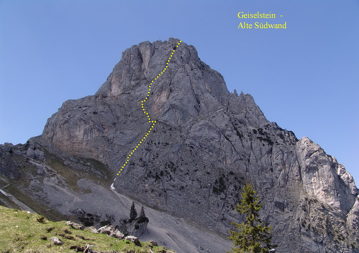 Geiselstein - Klettertour an der Südwand