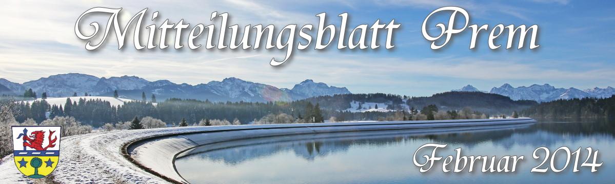 Prem am Lech - Mitteilungsblatt Februar 2014