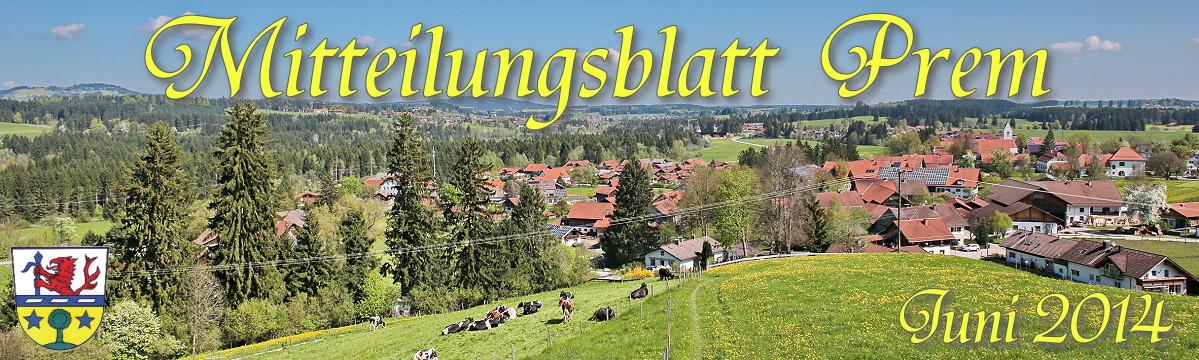 Prem am Lech - Mitteilungsblatt Juni 2014