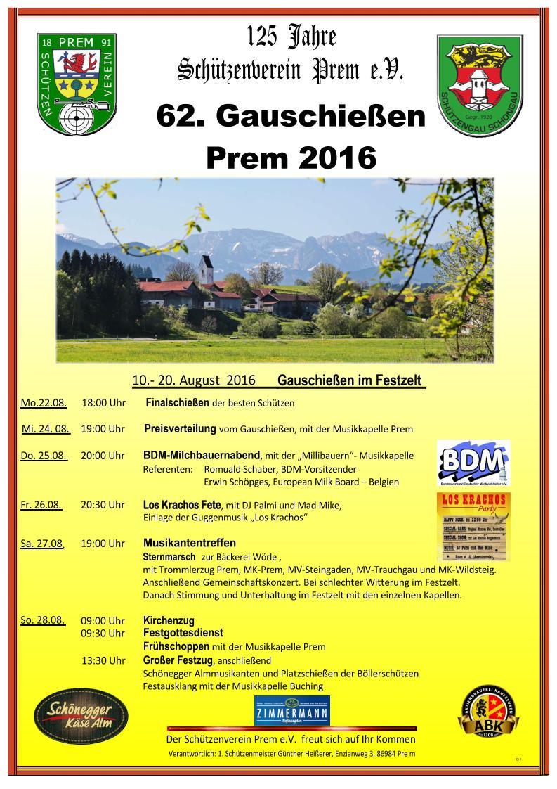 125 Jahre Schützenverein Prem