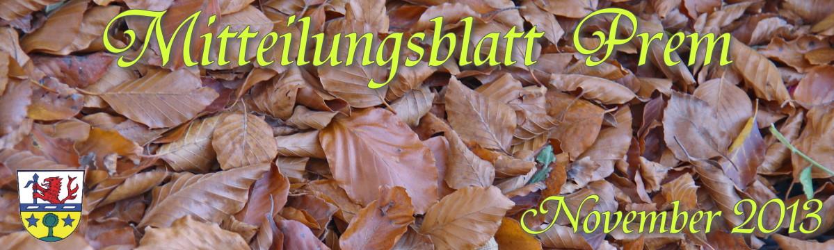 Prem am Lech - Mitteilungsblatt November2013