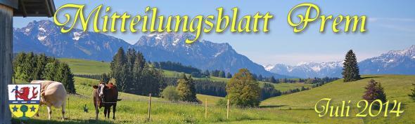 Gemeinde Prem - Mitteilungsblatt Juli 2014