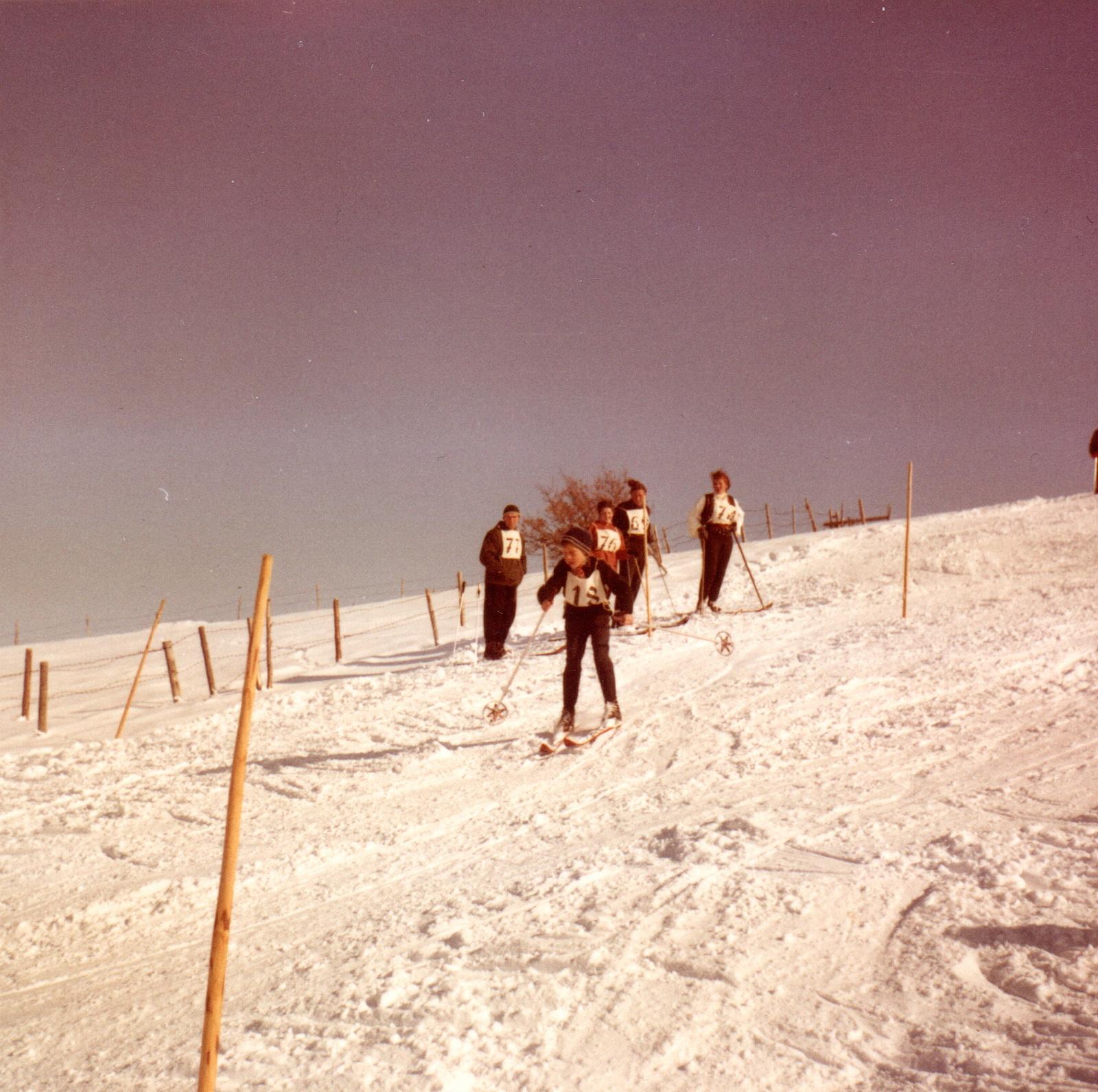 Abfahrslauf am Bäckerbichl 1966