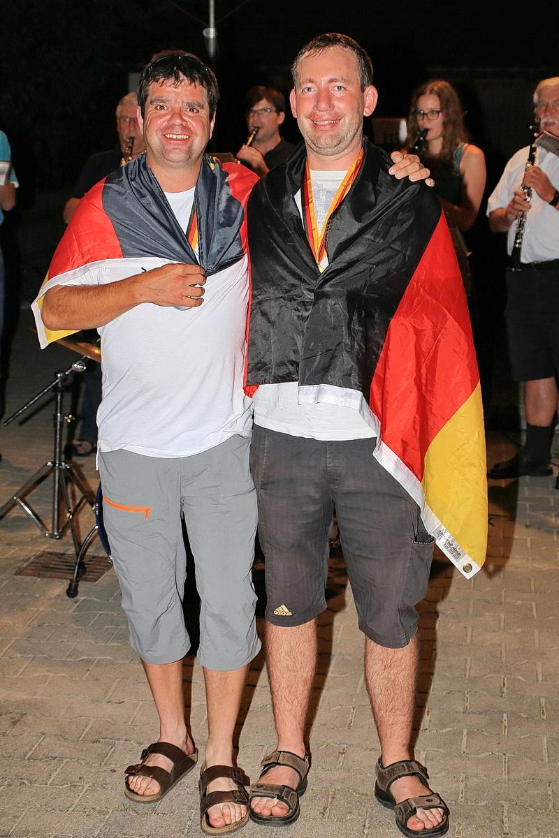 Empfang des Deutschen Meisters Thomas Ott bei den Männern und Günther Heißerer mit der Mannschaft
