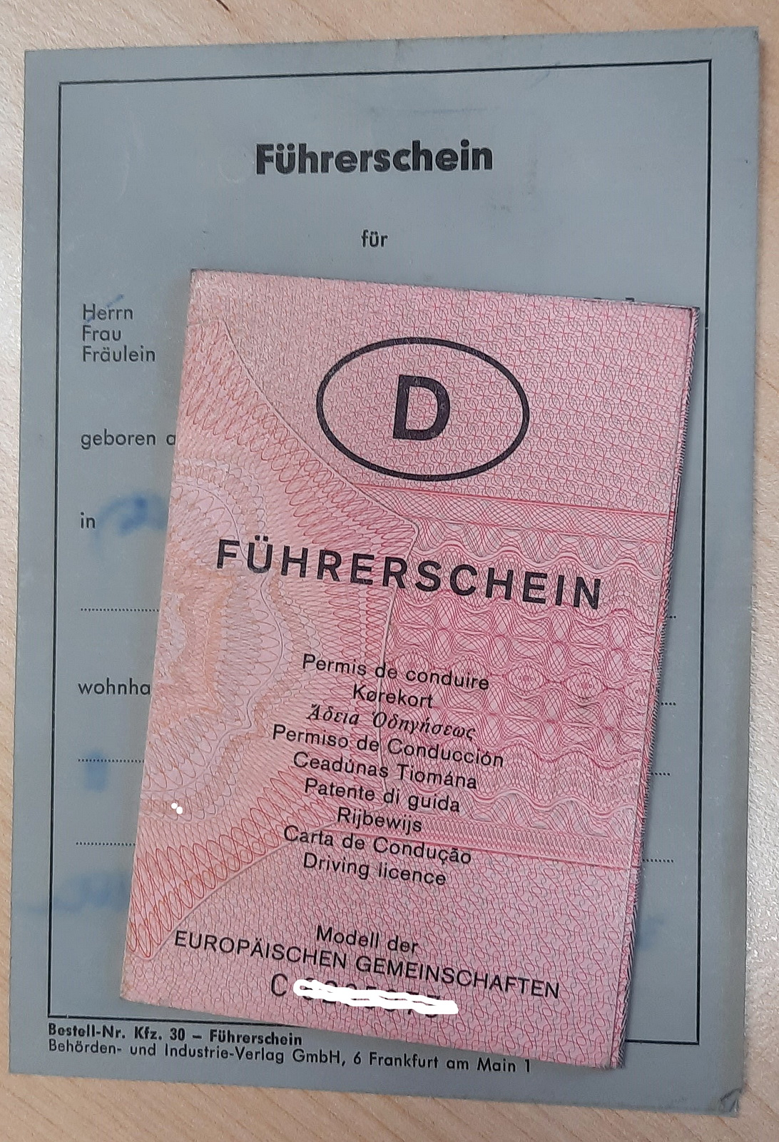 Alte Führerscheine