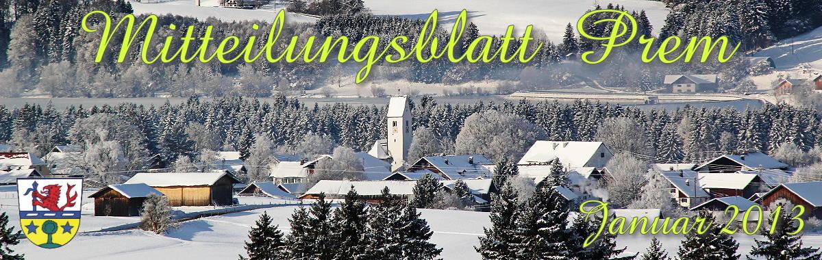 Prem am Lech - Mitteilungsblatt Januar 2013
