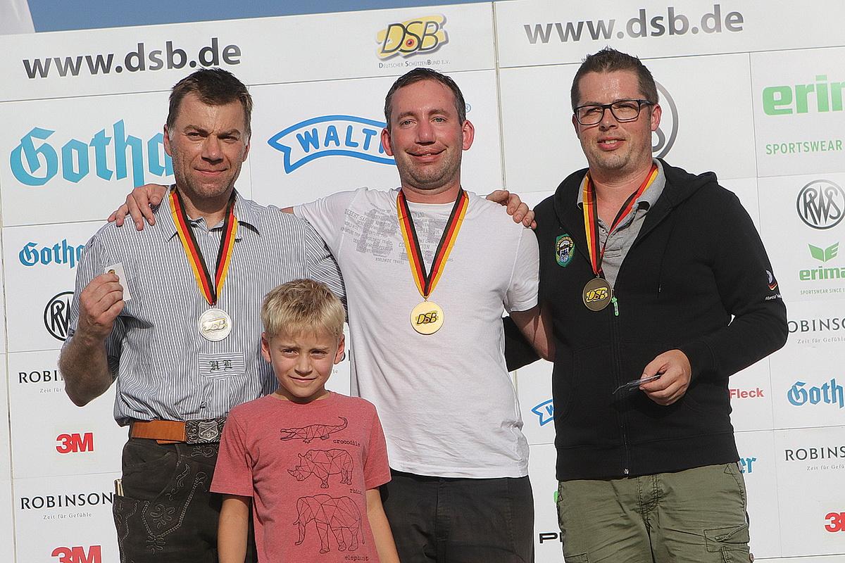 Siegerehrung der Männer bei der Deutschen Meisterschaft in München