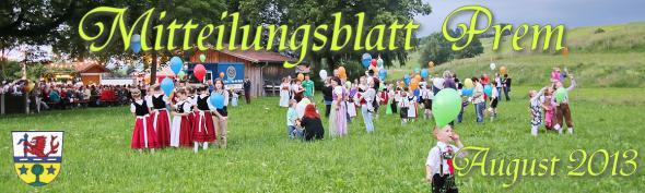 Prem am Lech - Mitteilungsblatt August 2013