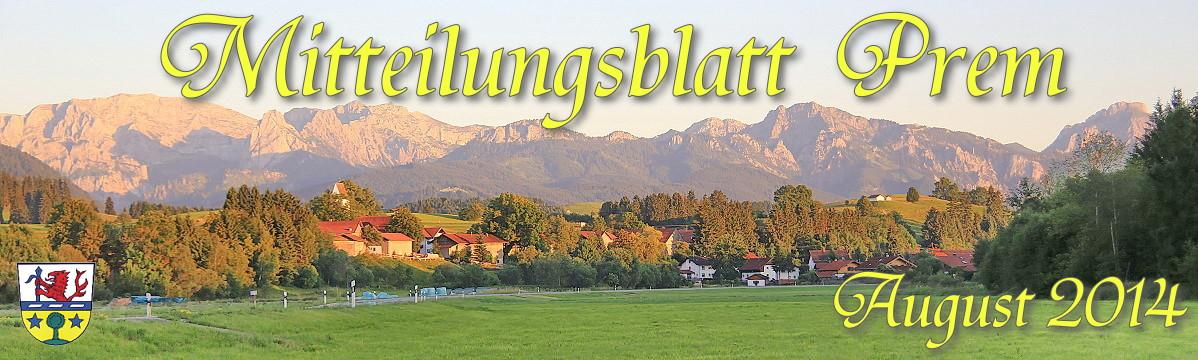 Prem am Lech - Mitteilungsblatt August 2014