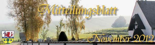 Prem am Lech - Mitteilungsblatt November 2012
