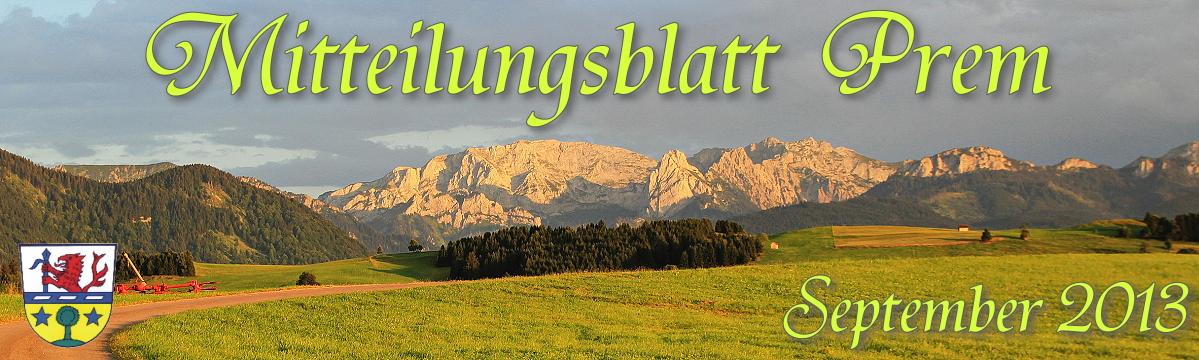 Prem am Lech - Mitteilungsblatt September 2013