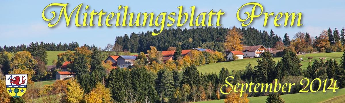 Prem am Lech - Mitteilungsblatt September 2014